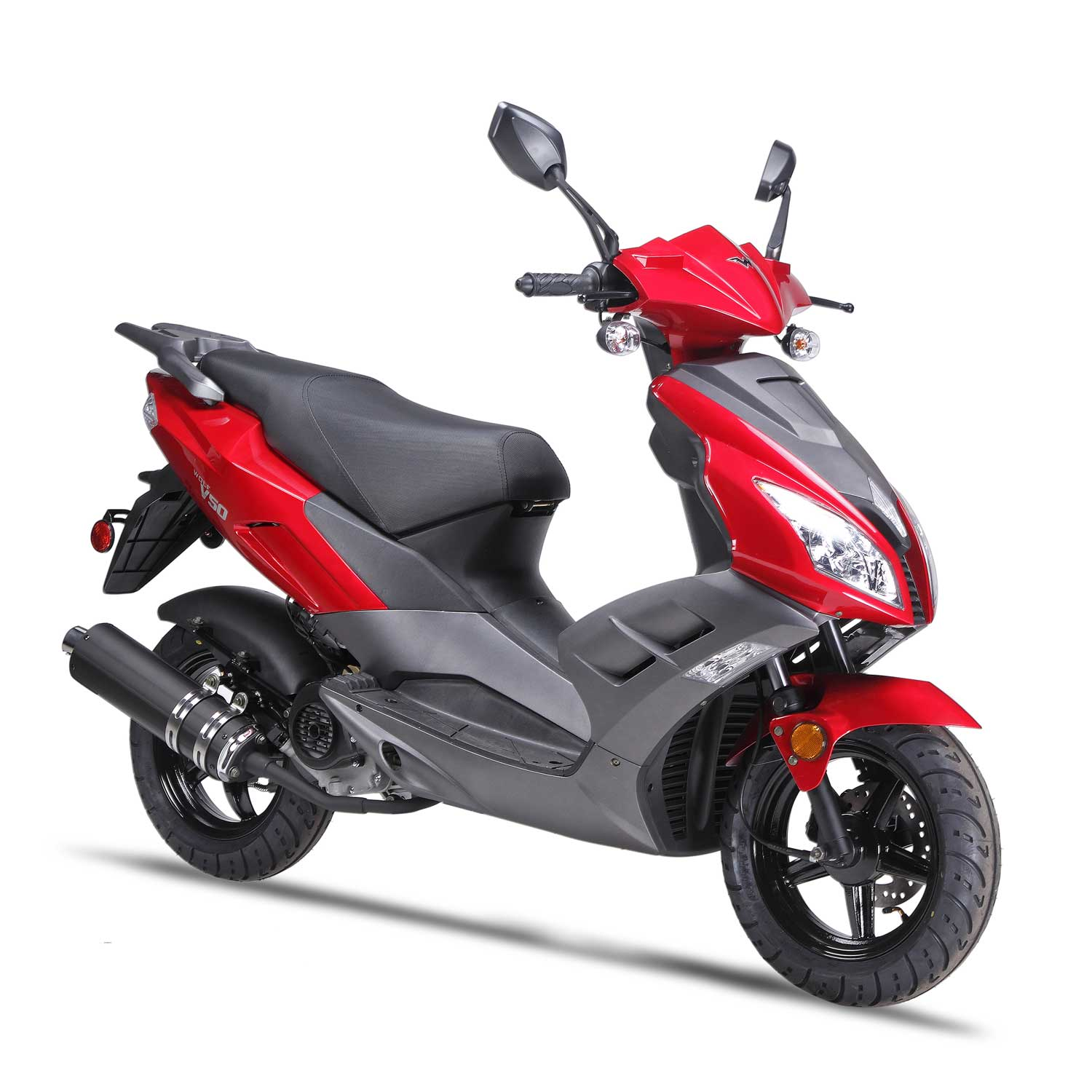 Wolfbrand Wholesale Scooter Brand-V-50-Red